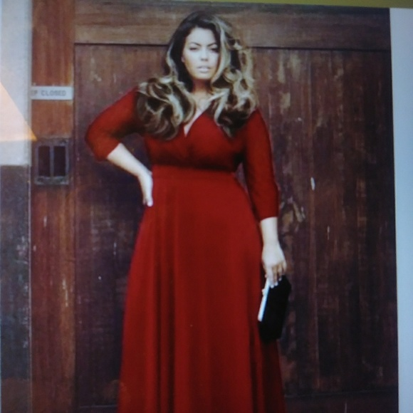 Red Maxi Dress Plus Size NWT